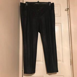 EUC INC Woman Black Crushed Glitter Pant s18W